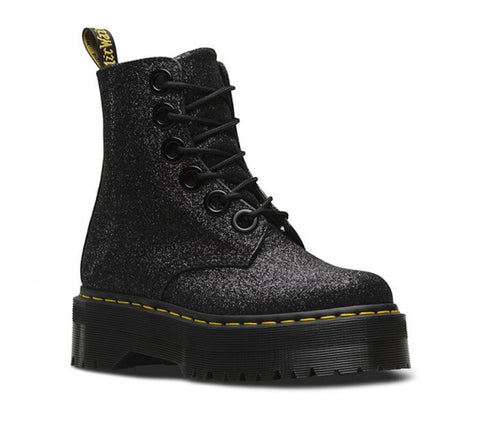 Dr Martens  Molly Gltr  Black Glitter 0.3mm 24331001 Famous Rock Shop Newcastle NSW Australia 2300