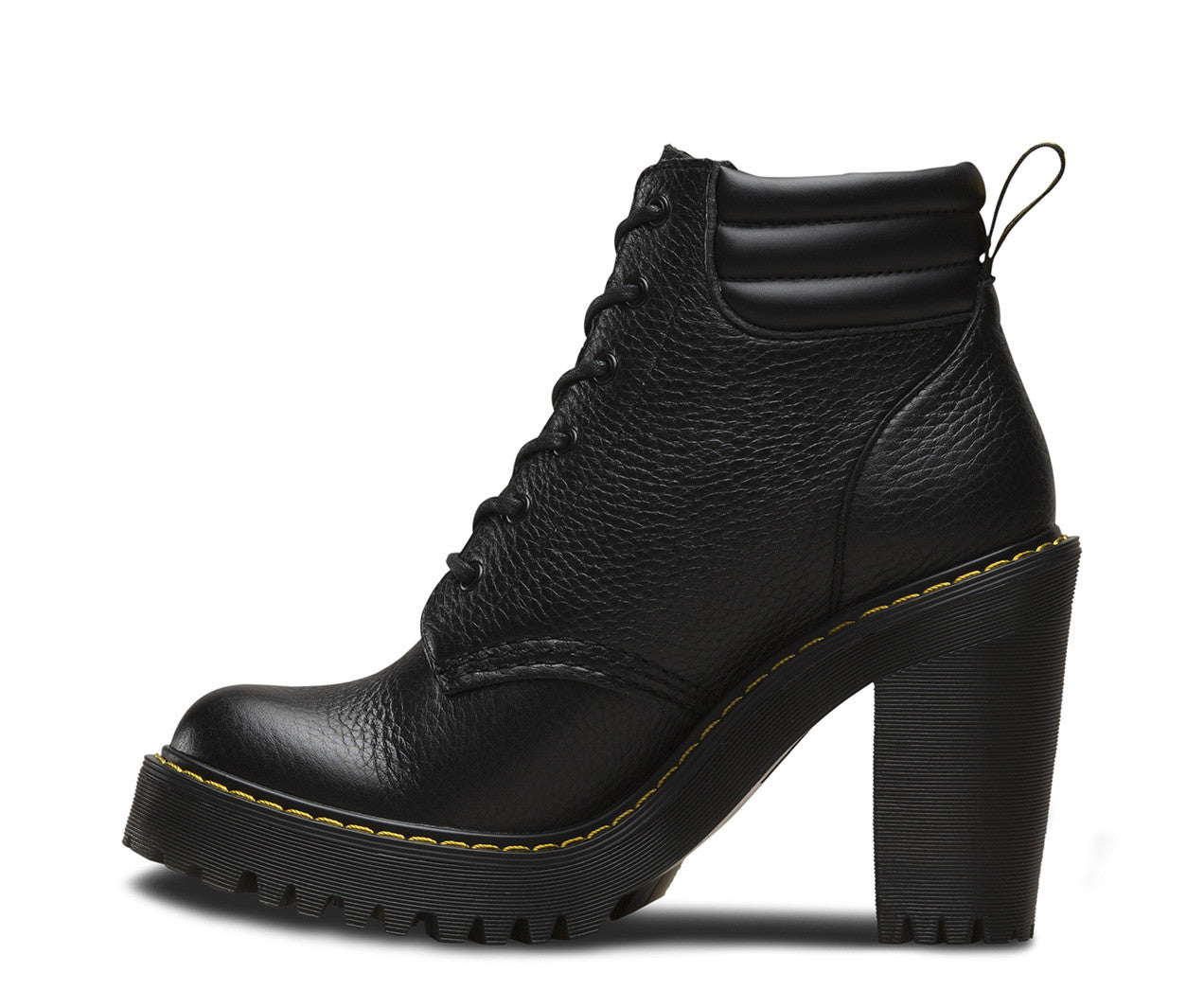 fb5d91bffd5 Dr Martens Persephone Aunt Sally Black Leather Heel Boot