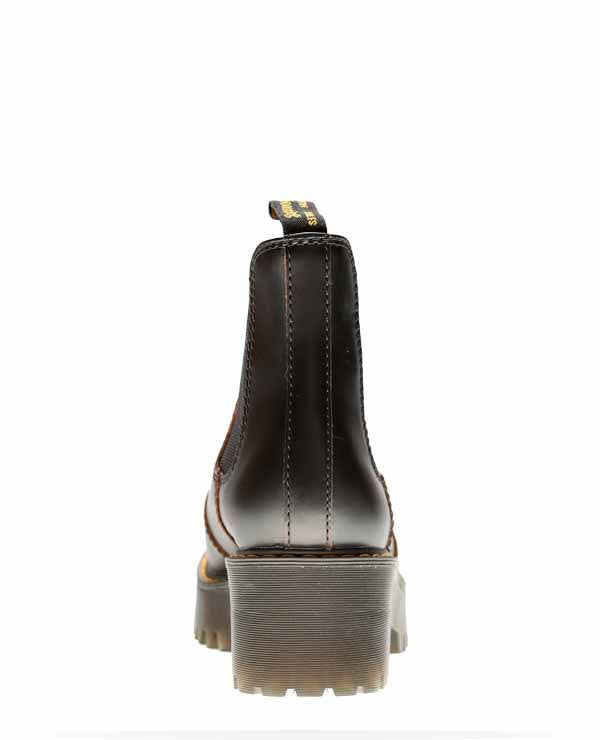 Dr Martens Rometty Leather Chelsea Boots Black Vintage Smooth 23030001