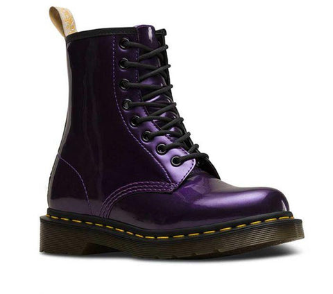 Dr Martens Vegan 1460 Chrome Dark Purple 23922514 Famous Rock Shop Newcastle, 2300 NSW. Australia. 1