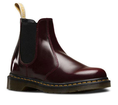 Dr Martens Vegan 2976 Cherry Red Oxford Rub Off 21802600 Famous Rock Shop Newcastle, 2300 NSW. Australia. 1