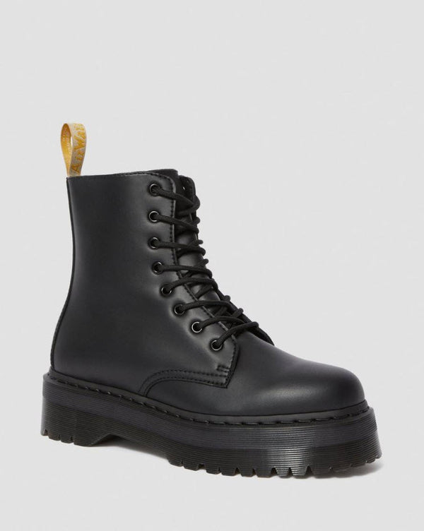 Dr Martens Vegan Jadon II Black Mono 8 Hole Boot 25310001 Famous Rock Shop Newcastle, 2300 NSW. Australia. 1