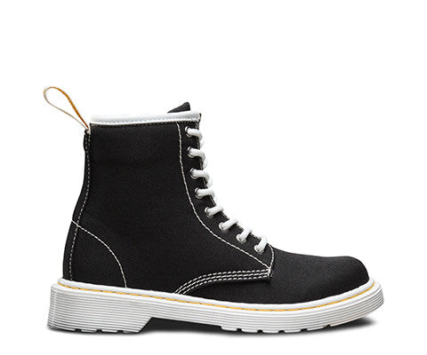 Dr Martens Youth Delaney Boot Black Canvas 21074001