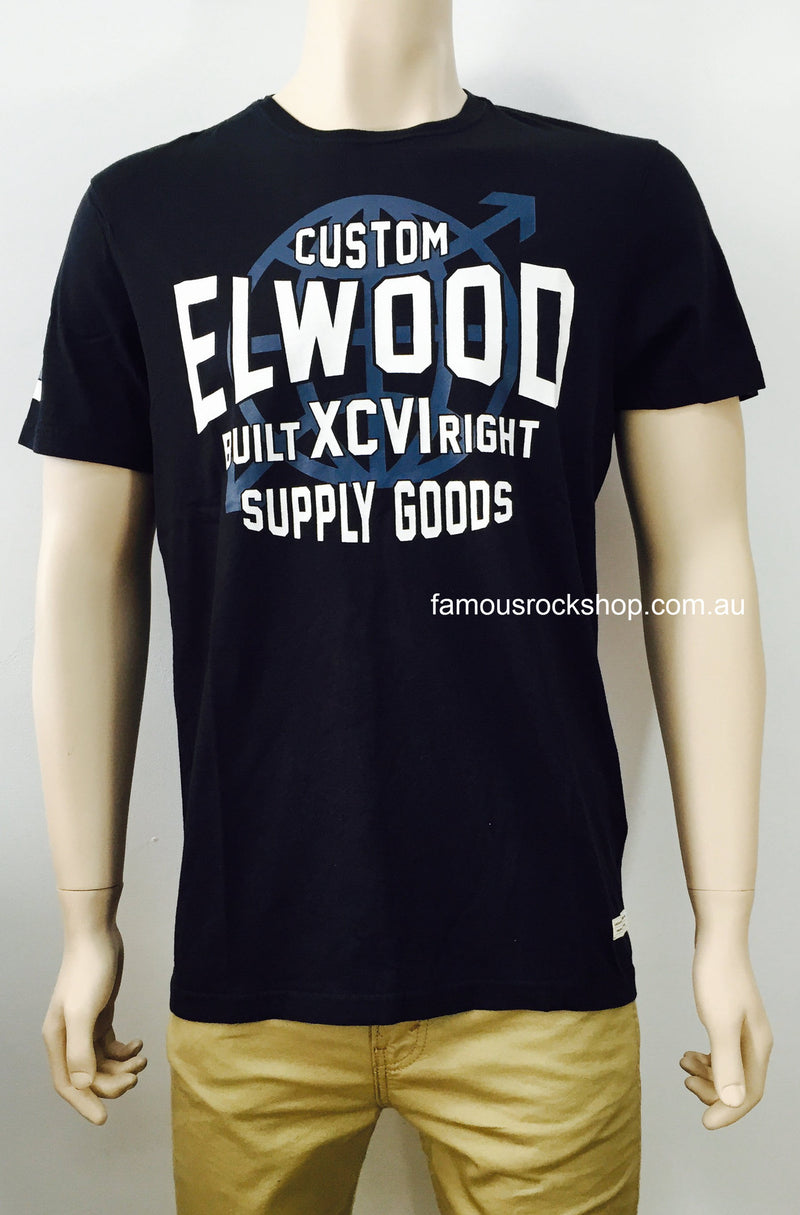 Elwood Global Black T-Shirt