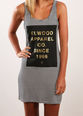 Elwood Since 1996 Dress Navy Stripe