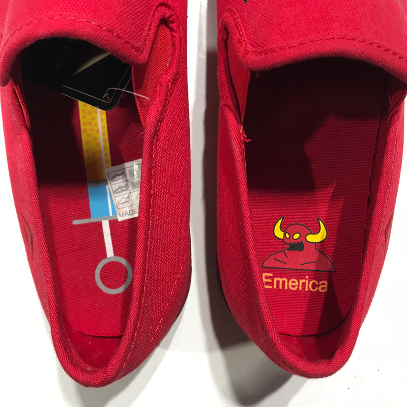 Emerica Skate Shoe The China Flat Toy Machine Collab Red Limited Edition Famous Rock Shop Newcastle NSW Australia.