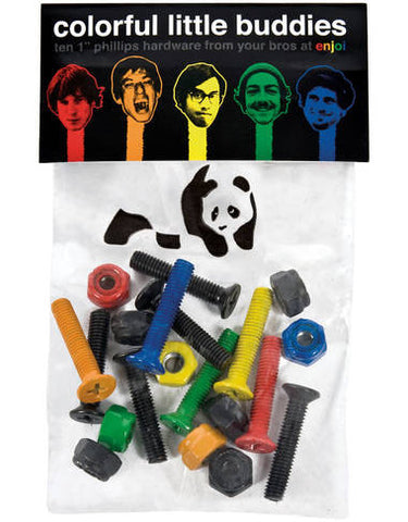 "Enjoi Colourful Little Buddies 1"" Allen Bolts"