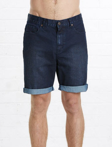 Elwood FIXED WAIST Denim Short - Indigo