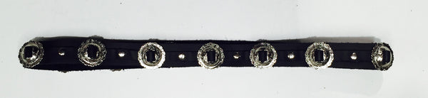 FRSW214 Adjustable Leather Concho Belt Morrison #6 Famous Rock Shop