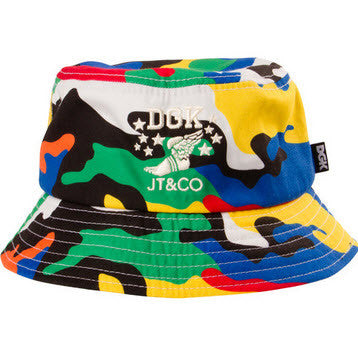 Timeless Multi Mixing the classic DGK Camo with the timeless style of JT&CO brings you the Multicolor bucket hat Famous Rock Shop Newcastle 517 Hunter Street Newcastle 2300 NSW Australia