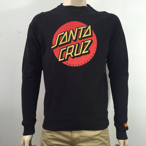 Santa Cruz  Big Dot Crew Black 1130C