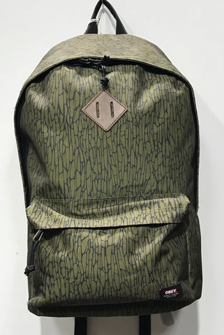 OBEY quality dissent Backpack Dark olive
