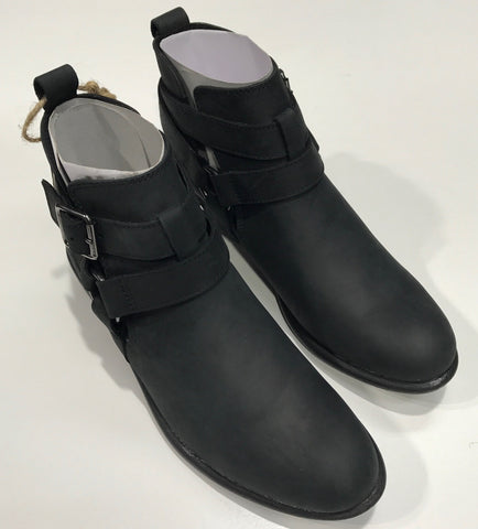 Roc Senora Black Buff Leather Boots