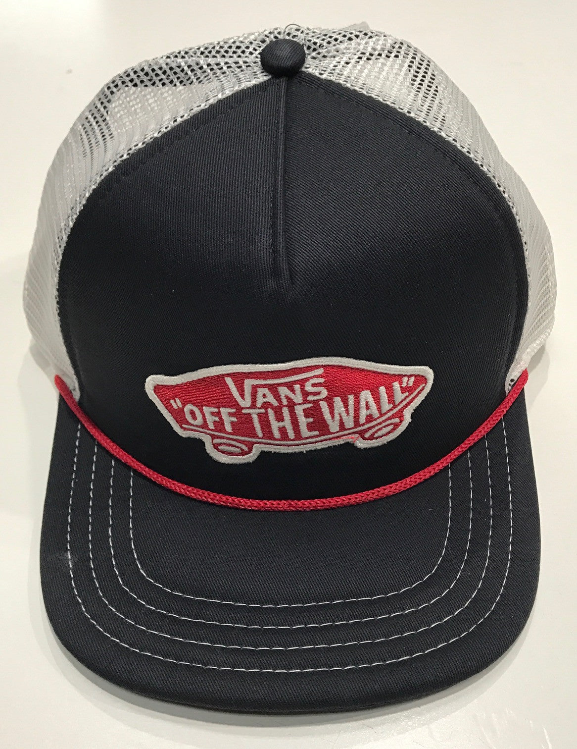 189d7471078 Vans Classic Patch Trucker Hat Navy Red White – Famous Rock Shop