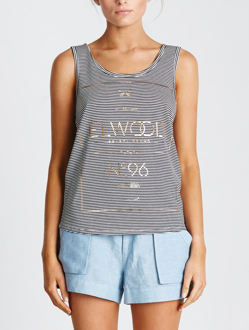 Elwood Gaby Tank Navy Stripes