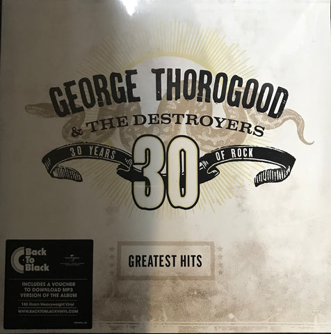 George Thorogood Greatest Hits 30 Years Of Rock 2LP Vinyl   Famous Rock Shop Newcastle 2300 NSW Australia