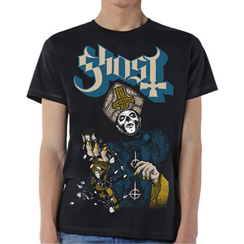 Ghost Men's Tee Papa Of The World Famous Rock Shop Newcastle NSW Australia