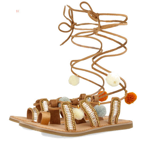 Gioseppo Nayeli Tan Leather Sandals