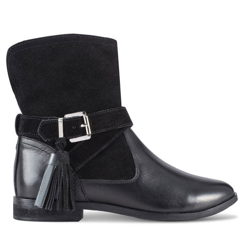 Gioseppo Vermont Black Leather Boots