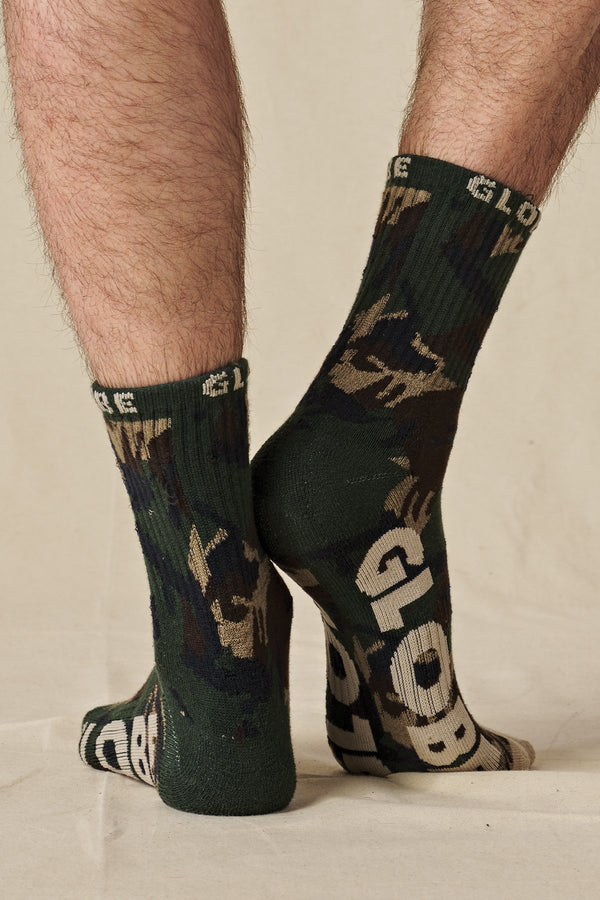 Globe Eco Camo Crew Sock 3 Pack
