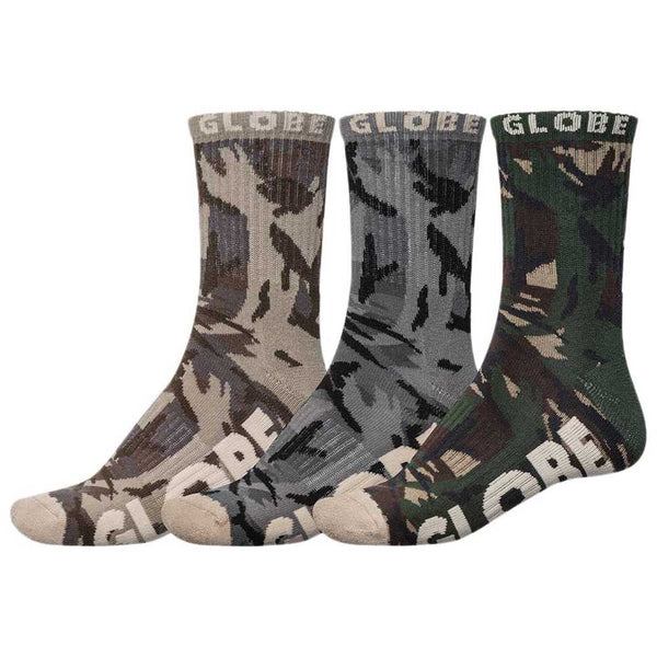 Globe Socks Eco Camo Crew Sock 3Pack Camo