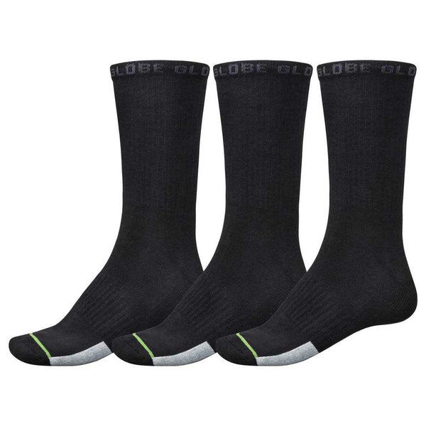 Globe Socks Low Impact Crew Sock 3Pack Assorted