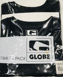 Globe 2 Pack T-Shirt Black Famous Rock Shop Newcastle 2300 NSW Australia