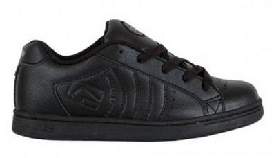 Globe Focus Kids Black Leather Skate Shoe  Famous Rock Shop Newcastle 2300 NSW  Australia