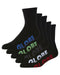 Globe Sport  Stealth Crew 5 Pk of Socks - Black