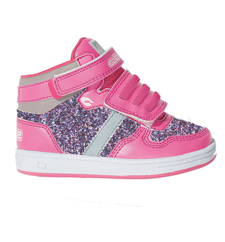 Gallaz Supagirl Infants Pink Glitter High Tops