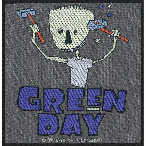 GreenDay Hammer Face Patch Famous Rock Shop Newcastle NSW Australia