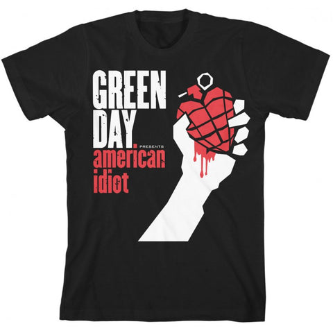 Green Day Women's American Idiot T-Shirt Black