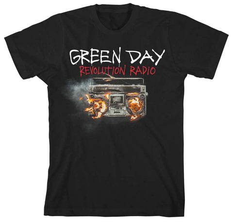Green Day Revolution Radio Cover Black T-Shirt
