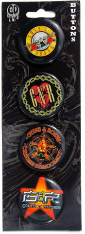 Guns N Roses 4pk Button Set
