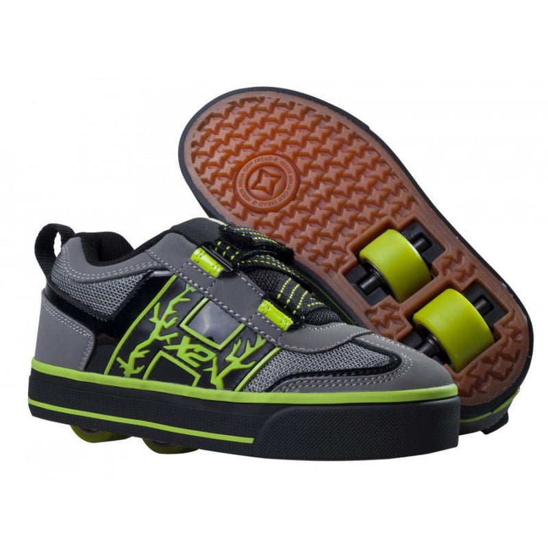 Heelys Boys Bolt Grey Green Youth