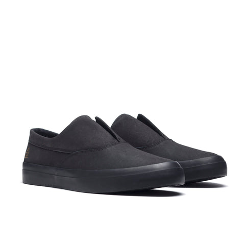 HUF Dylan Slip On VC00014 Skate Shoe Black Black Famous Rock Shop Newcastle 2300 NSW Australia