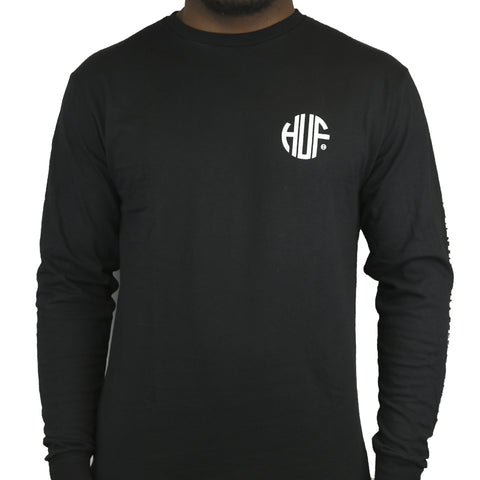 HUF Regional LS Tee black Famous Rock Shop Newcastle NSW Australia