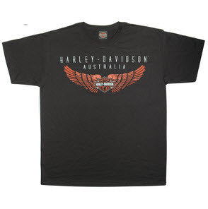 Harley Davidson Clothing Winged Bar & Shield  Famous Rock Shop Newcastle 2300 NSW Australia