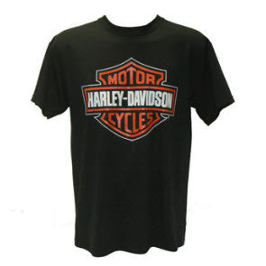 Harley Davidson Clothing, Harley Davidson, Famous Rock Shop Harley Davidson Bar & Shield Black T-Shirt Famous Rock Shop Newcastle 2300 NSW Australia
