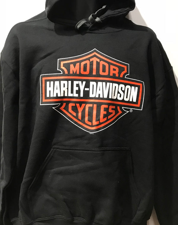 Harley Davidson HD Bar & Shield Sweater Hoodie  Black Famous Rock Shop Newcastle NSW Australia