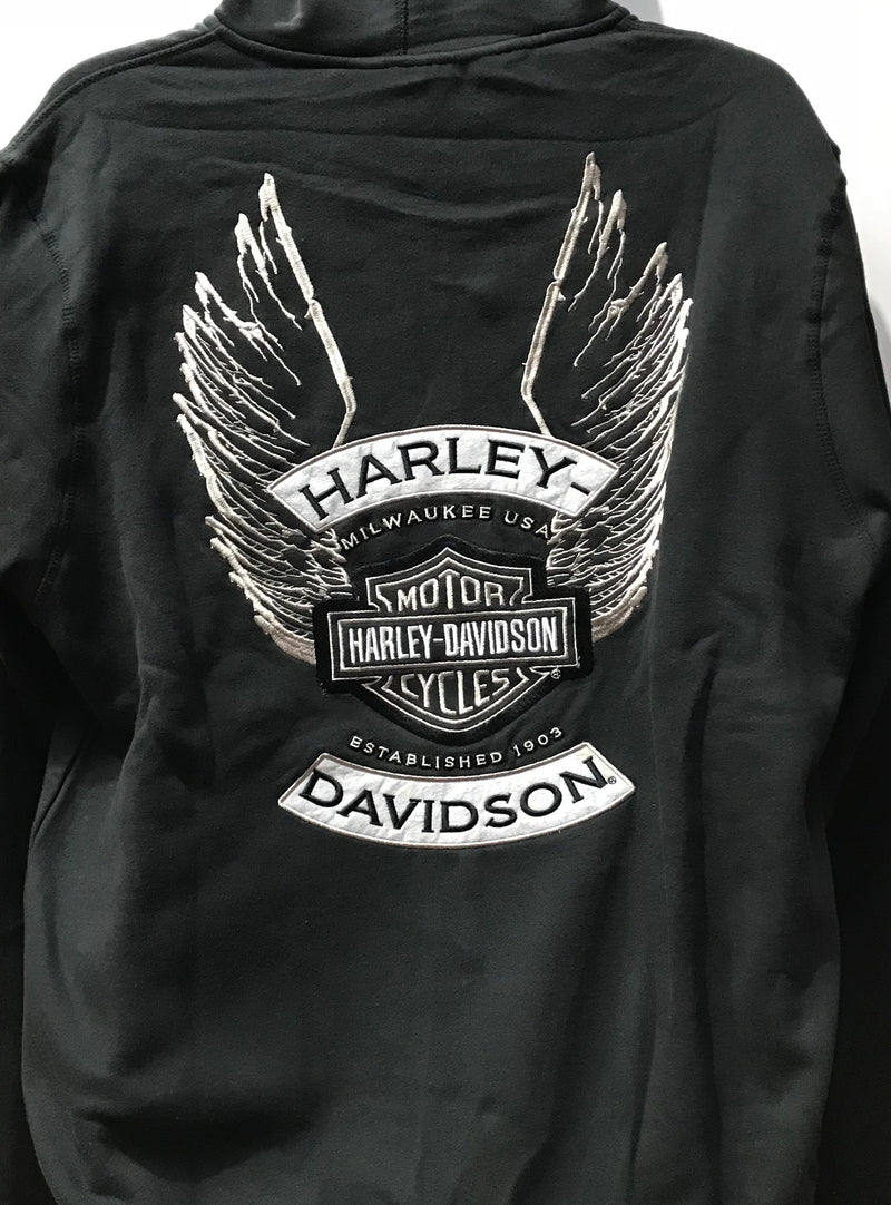 Harley Davidson Hoodie Winged Black Famous Rock Shop Newcastle NSW Australia 1