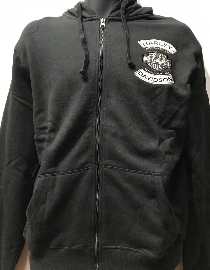 Harley Davidson Hoodie Winged Black Famous Rock Shop Newcastle NSW Australia