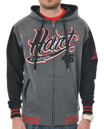 Hart & Huntington Player Zip Hood Burgandy