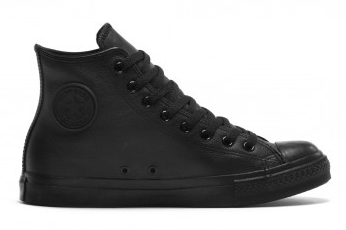 Converse Black Mono Leather Hi