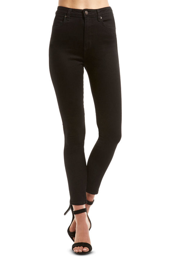 Lee Riders By High Rider Ex Black Jeans Womens Rise