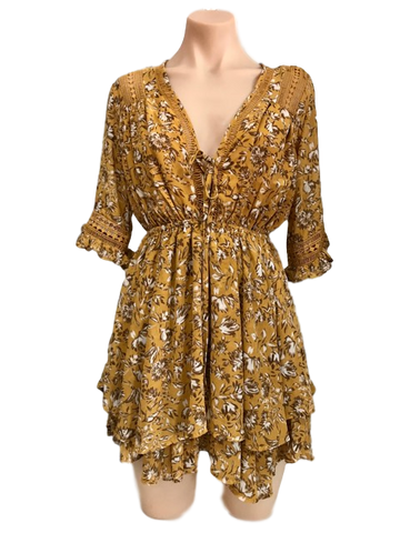 Hot Property Aries Mustard Dress