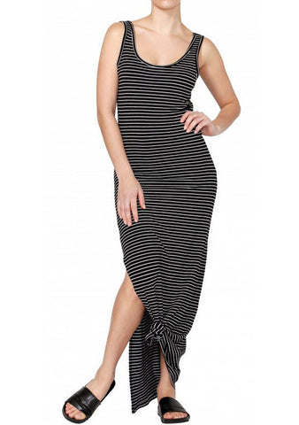 Betty Basics Byron Maxi Dress Black/ White Stripes