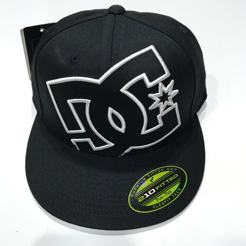 DC Shoes Ya Heard Hat Black ADYHA00141 Fitted Hat Famous Rock Shop Newcastle, 2300 NSW.