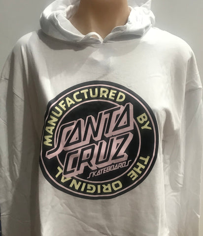 Santa Cruz Original Dot Long Sleeve Hooded Tee White SC-WLC7357 Famous Rock Shop Newcastle 2300 NSW Australia