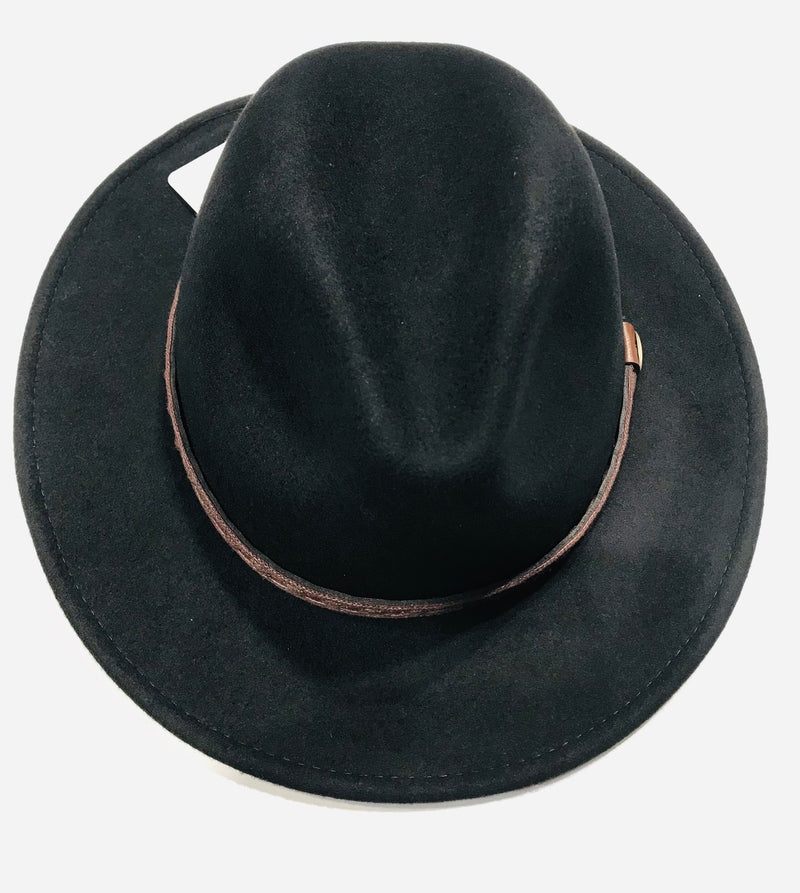 Avenel Crushable Water Repellent Wool Felt Safari Hat DF47 Black Famous Rock Shop Newcastle NSW Australia